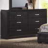 Dylan Faux Leather 6 Drawer Dresser