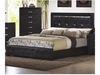 Dylan Queen Faux Leather Upholstered Low Profile Bed