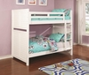 Edith Louvered White Twin over Twin Bunk Bed with Trundle