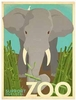 ELEPHANT IN ZOO Wall art # 961202
