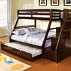 Ellington Twin/full bunk bed with trundle bed