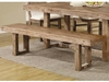 "Elmwood Rustic ""U"" Base Bench"