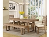 "Elmwood Rustic ""U"" Base Dining Table"