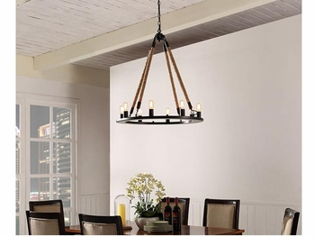 ENCIRCLE CHANDELIER IN BLACK