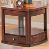 Evans Contemporary End Table with Drawer and Shelf