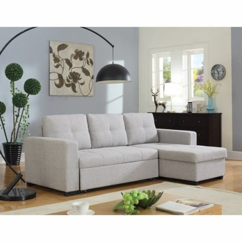 Everly Beige Sectional Sofa with Sleeper 503926