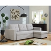 Everly Beige Sectional Sofa with Sleeper