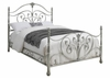 Evita King Metal Bed with Elegant Scrollwork