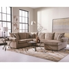 Fairhaven Rolled Arm Sectional Cream Herringbone 501149