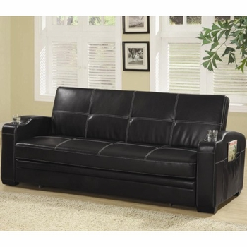 Avril Upholstered Sleeper Sofa Bed With Cup Holders 300132