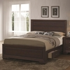 Fenbrook Transitional Queen Bed with Storage Drawers