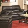 Fenmore Casual Ultra Plush Faux Leather Love Seat