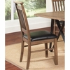 Ferguson Slat Back Side Chair with Leatherette Seat