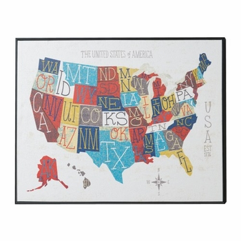 Fifty States Wall Art