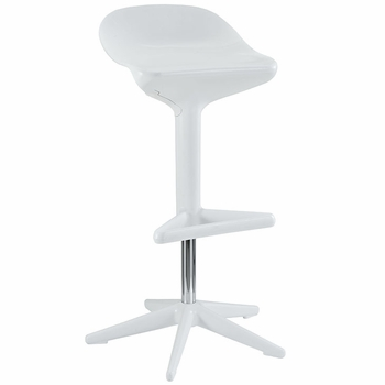 FLARE BAR STOOL IN WHITE