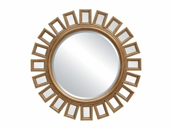 Floor Model Wall mirror with Gold Frame