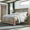 Florence Panel Queen Bed with Column Design by Donny Osmond Home