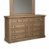 Florence Rustic Dresser with Jewelry Tray by Donny Osmond Home