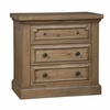 Florence Three Drawer Nightstand with Outlet by Donny Osmond Home