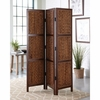 3-Panel Hand-Woven Folding Floor Screen Chestnut 901921
