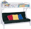 Fordham C Style Twin over Full Futon Bunk Bed
