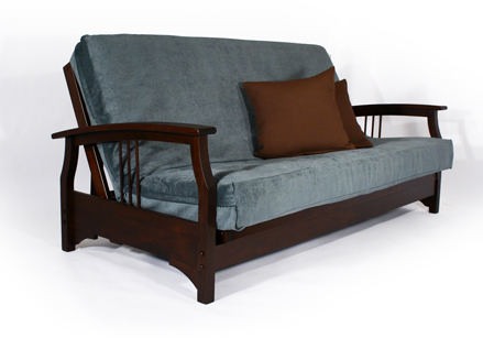 Fremont Full Size Futon Frame Wall Hugger Made In USA MD Furniture