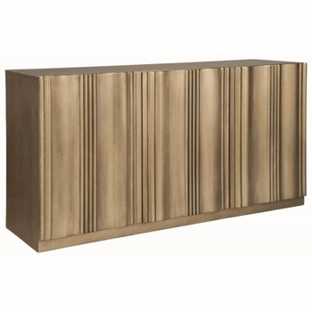 Friedman Modern Server with Gold Finish