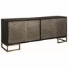 Friedman Modern Server with Metallic Finished Doors