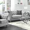 Frostine Glamorous Loveseat with Tufted Side Frame