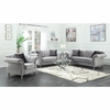 Frostine Glamorous Sofa with Crystal Button Tufting