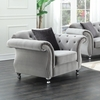 Frostine Upholstered Chair with Crystal Button Tufting