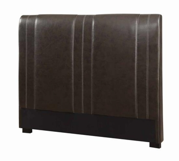 Full Caleb Upholstered Headboard in Dark Brown Faux Leather