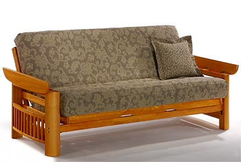 Loveseat Full Bed Lounger Moonglider Front Operating Portofino Futon Frame