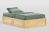 Full size Tall basic platform bed with Two storage drawers