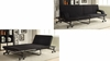 Futons Black Sofa Bed with Metal Frame