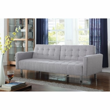 Nena Button Tufted Sofa Bed Light Grey 505616