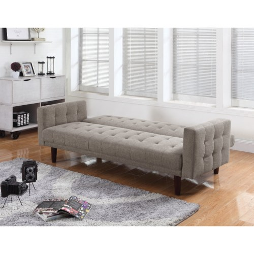 Futons On Tufted Sofa Bed With Chenille Upholstery