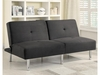 Futons Contemporary Microfiber Sofa Bed with Split Back