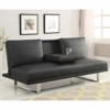 Futons Contemporary Sofa Bed with Chrome Legs