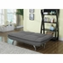Futons Grey 503966 Sofa Bed with Chrome Legs