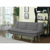 Futons Grey Sofa Bed with Chrome Legs