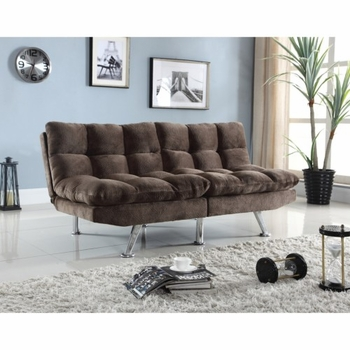 Futons Plush Sofa Bed with Padded Velvet