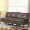 Futons Sofa Bed with Brown Leatherette