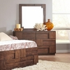 Gallagher 6 Drawer Dresser with Geometric Layered Wood Panels