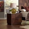 Gallagher Nightstand with Geometric Layered Wood Panels