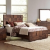 Gallagher Queen Bed with Geometric Layered Wood Patterns