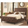 Gallagher Upholstered Queen Bed with Basket Weave Design