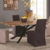 Galloway Dining Table in Rustic Natural Wood Finish