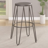 Galway Bar Height Stool with Gunmetal Finish