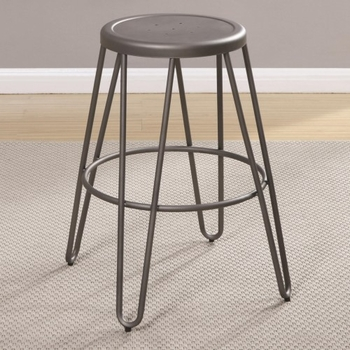 Galway Counter Height Stool with Light Gunmetal Finish